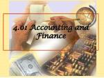 4.01 Accounting and Finance