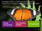 Paradigm Shift in Technology Ecosystem Impact on Testing-Challenges & Opportunities