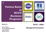 Tuition Rates in NCCU Business Programs
