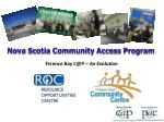 Nova Scotia Community Access Program