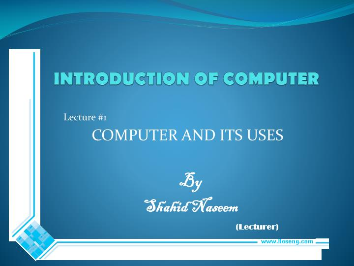 introduction of computer n.