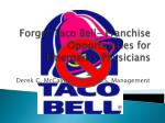 Forget Taco Bell- Franchise Opportunities for Emergency Physicians