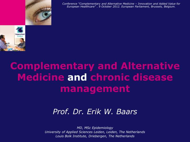 complementary and alternative medicine and chronic disease management n.