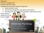 School-Age Psychology