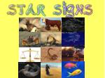 What is a star sign?