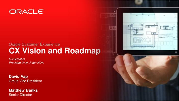 oracle customer experience cx vision and roadmap n.