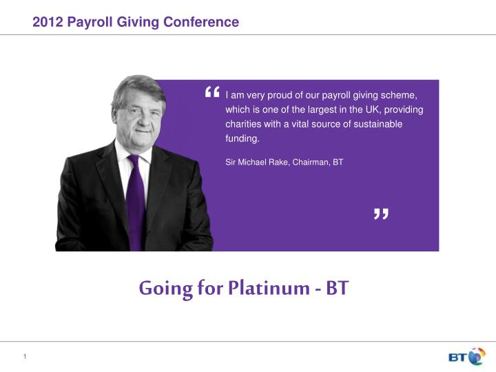2012 payroll giving conference n.