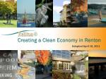 Creating a Clean Economy in Renton