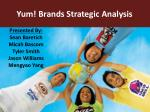 Yum! Brands Strategic Analysis