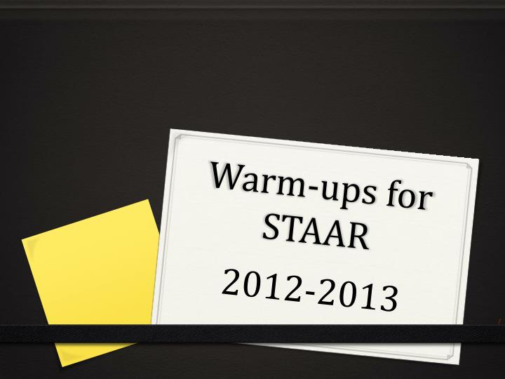 warm ups for staar n.