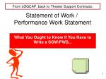 From LOGCAP, back to Theater Support Contracts: