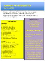 HARMAN PTO NEWSLETTER January 2014