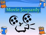 Movie Jeopardy