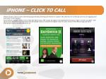 iPHONE – CLICK TO CALL
