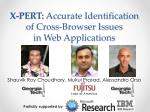 X-PERT: Accurate Identification of Cross-Browser Issues in Web Applications