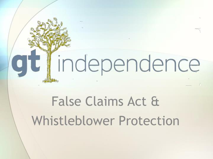 false claims act whistleblower protection n.