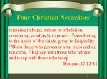 Four Christian Necessities