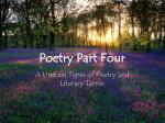 Poetry Part Four
