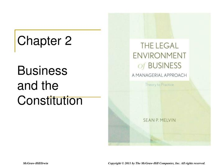 PPT Chapter 2 Business And The Constitution PowerPoint