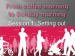 From coffee morning to Sunday morning