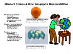 Standard 1: Maps & Other Geographic Representations