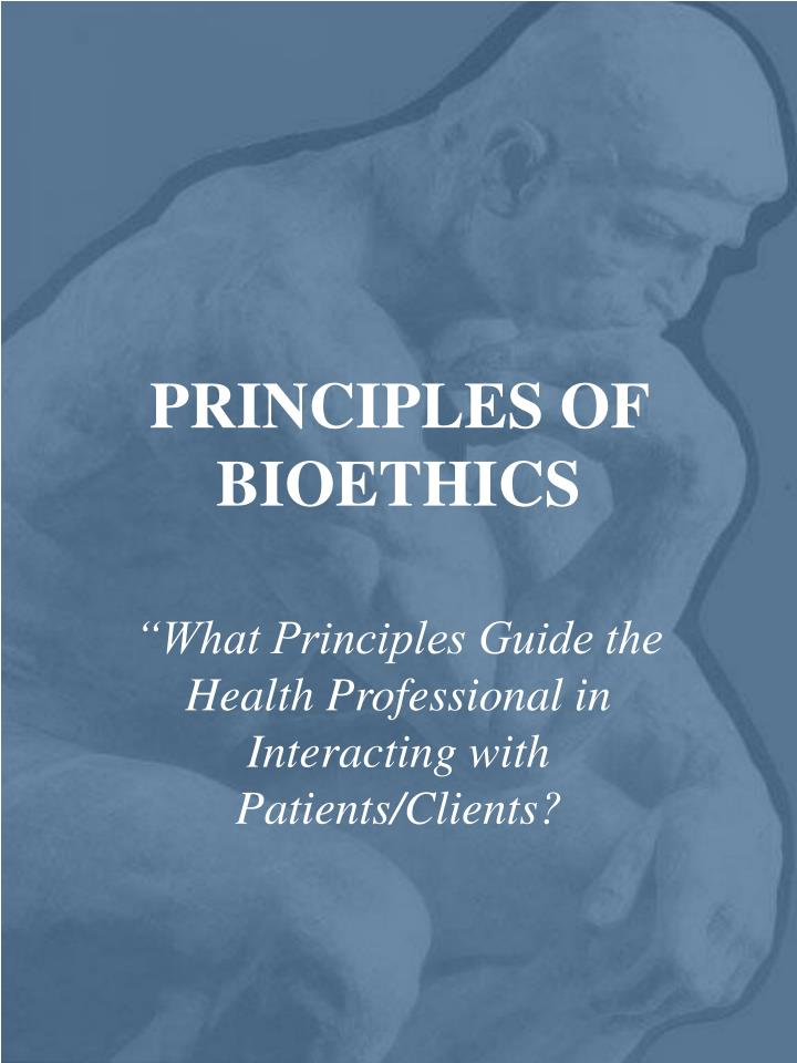 principles of bioethics n.