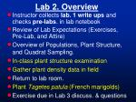 Lab 2. Overview