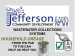WASTEWATER COLLECTIONS SYSTEMS