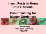Insect Pests in Home Fruit Gardens: Basic Training for Master Gardeners