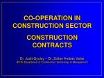 CONSTRUCTION AFFAIRS
