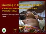 Challenges and Opportunities for Future Public Spending