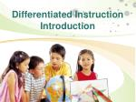 Differentiated Instruction Introduction