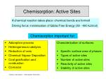 Chemisorption: Active Sites