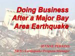 Doing Business After a Major Bay Area Earthquake