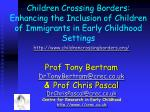 Children Crossing Borders: Enhancing the Inclusion of Children of Immigrants in Early Childhood Settings