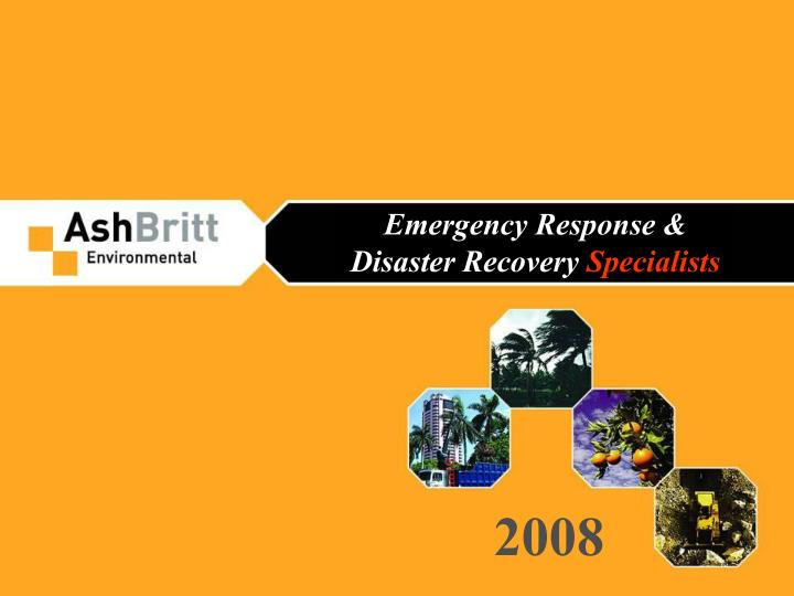 emergency response disaster recovery specialists n.