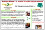 """Reading Makes Cents"" – A Financial Literacy Pilot Program In Maryland"