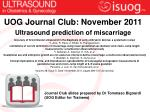 Ultrasound prediction of miscarriage