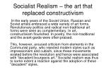 Socialist Realism – the art that replaced constructivism
