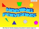 NAMING POLYGONS