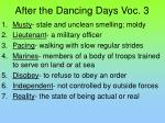After the Dancing Days Voc. 3