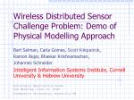 Wireless Distributed Sensor Challenge Problem: Demo of Physical Modelling Approach