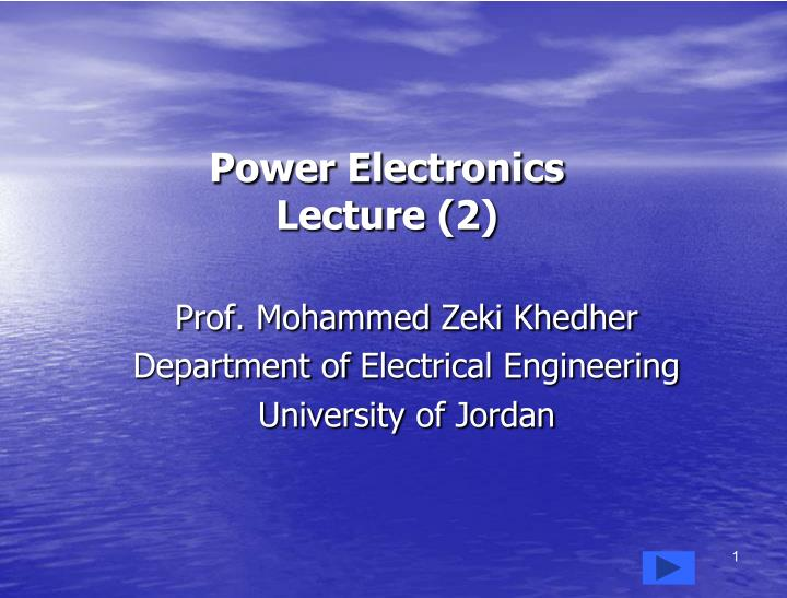 power electronics lecture 2 n.