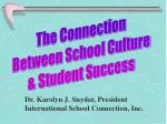The Connection  Between School Culture  & Student Success