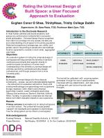 Rating the Universal Design of  Built Space: a User Focused  Approach to Evaluation