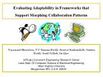 Evaluating Adaptability in Frameworks that Support Morphing Collaboration Patterns