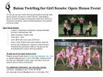 Baton Twirling for Girl Scouts: Open House Event