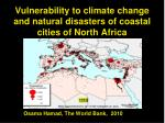 Vulnerability to climate change and natural disasters of coastal cities of North Africa