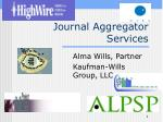 Journal Aggregator Services