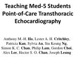 Teaching Med-5 Students Point-of-Care Transthoracic Echocardiography